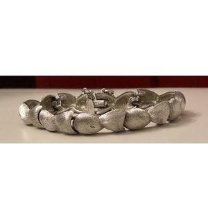Vintage 1950s MONET SilverTone Curb Chain Bracelet